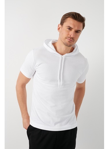 Buratti Buratti Slim Fit Erkek T-Shirt 5412021 Beyaz